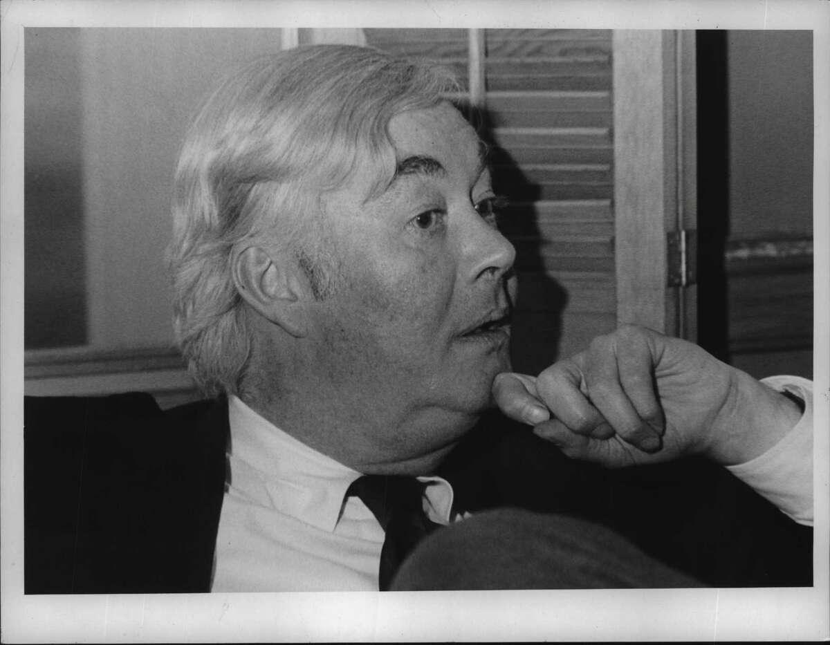 Senator Daniel Patrick Moynihan. April 26, 1982 (Times Union Archive)