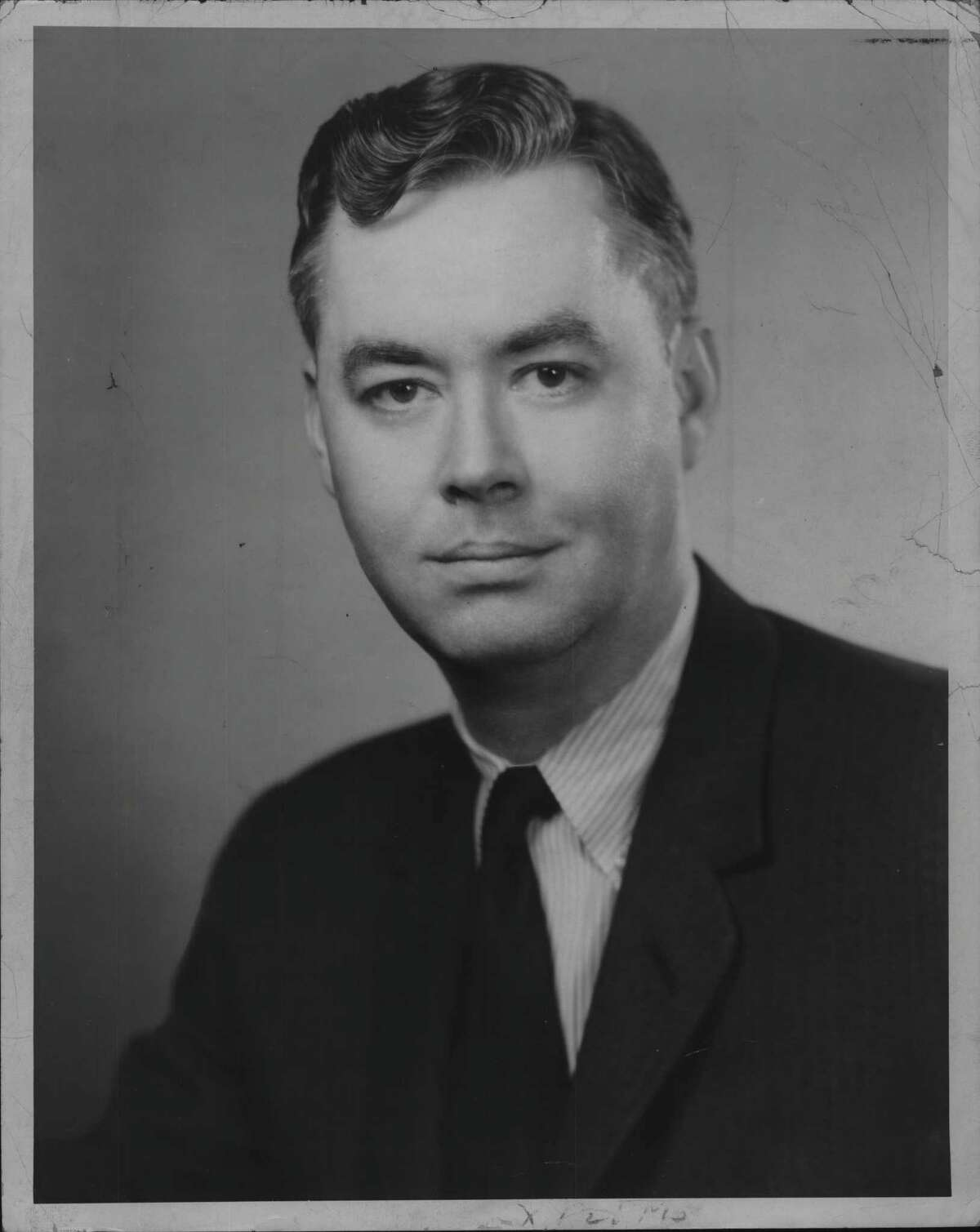 Senator Daniel Patrick Moynihan. April 8, 1963 (Knickerbocker News Staff Photo/Times Union Archive)