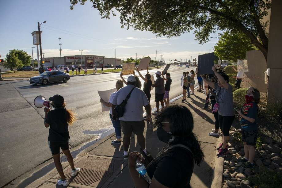 Black Lives Matter protesters marched Saturday, June 6, 2020 along Andrews Highway. Photo: Jacy Lewis/Reporter-Telegram / Jacy Lewis/Reporter-Telegram