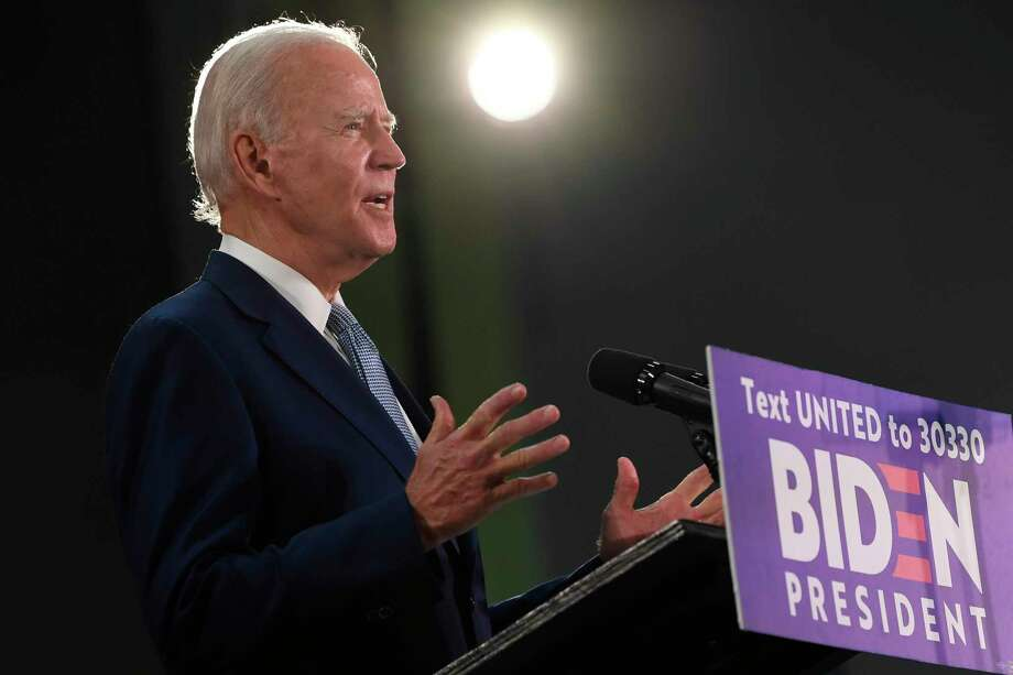 El candidato presidencial demócrata Joe Biden pronuncia un discurso el viernes 5 de junio de 2020 durante un acto en Dover, Delaware. Photo: Susan Walsh /Associated Press / Copyright 2020 The Associated Press. All rights reserved.