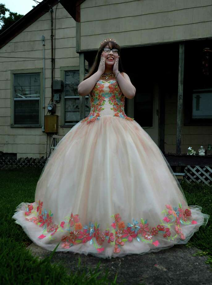Charlie Garza, 15, of Groves, delayed having her quinceanera near her September birthday, because it falls in the height of hurricane season. To be safe, her family chose April 11. She then was faced with postponing the event due to the COVID-19 closures and restrictions. She hopes to have the celebration, traditionally a festive and elaborate occasion for Hispanic girls to mark their coming of age, before she turns 16. Photo taken Thursday, May 28, 2020 Kim Brent/The Enterprise Photo: Kim Brent / The Enterprise / BEN