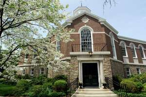 Perrot Memorial Library in Old Greenwich has resumed no-contact pickup services after a weekend deep cleaning. An employee tested positive for the coronavirus last week.