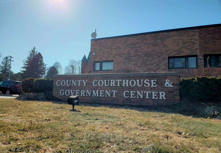 The Manistee County Courthouse & Government Center, which closed to the public in March, will reopen June 8 withcoronavirus precautions in place. (Arielle Breen/News Advocate)