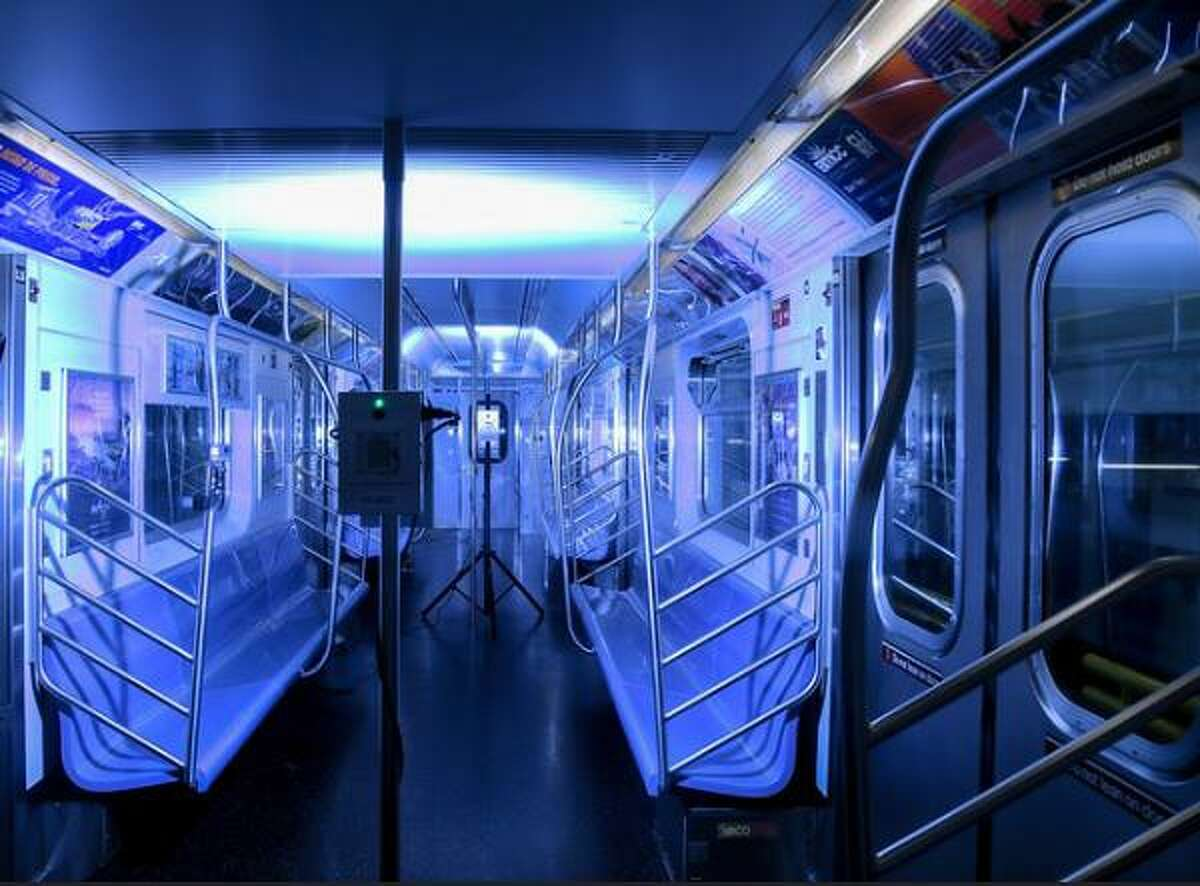 The MTA's new innovation officer, Mark Dowd, has been experimenting with portable UV light systems to blast the virus from subway interiors. It takes about 15 minutes to disinfect each train with the UV, meaning the entire fleet can be treated in a day.