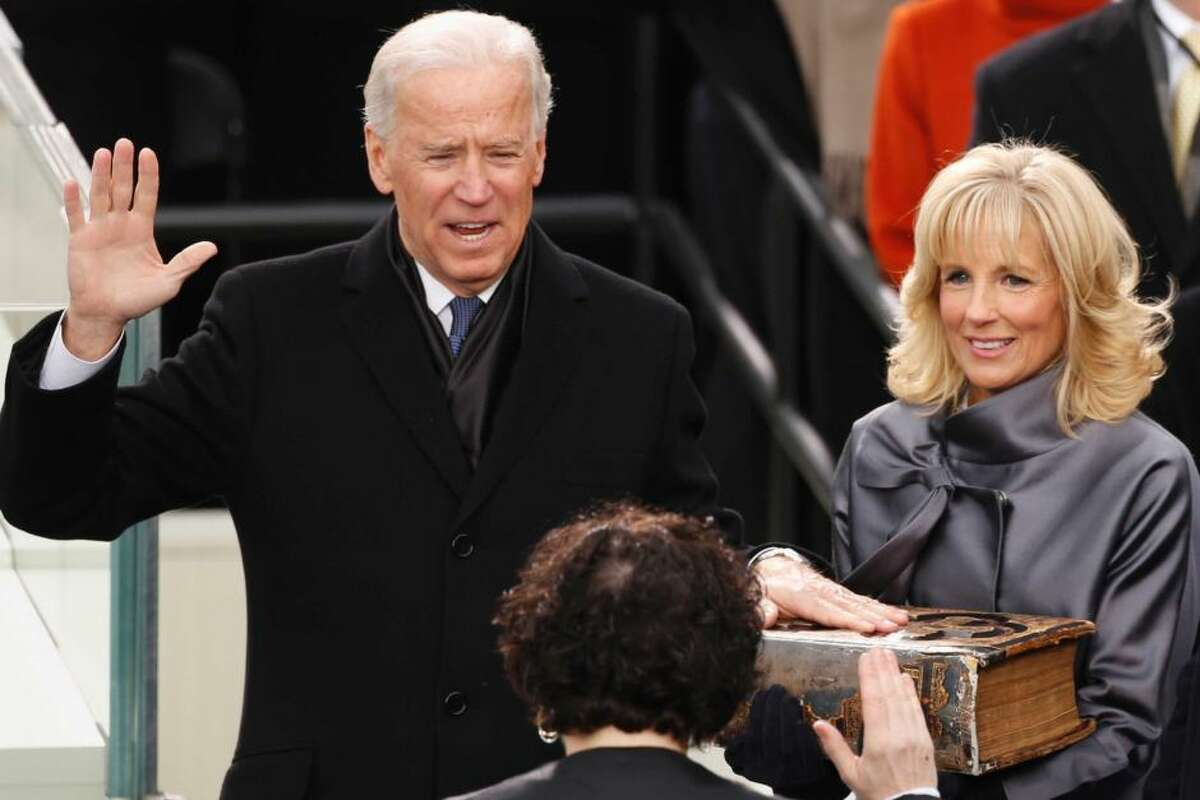 Ex;Vice President Joe Biden with wife Jill: He is pulling away from Trump in the polls.