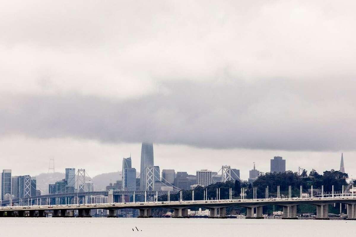 Clouds linger over San Francisco.