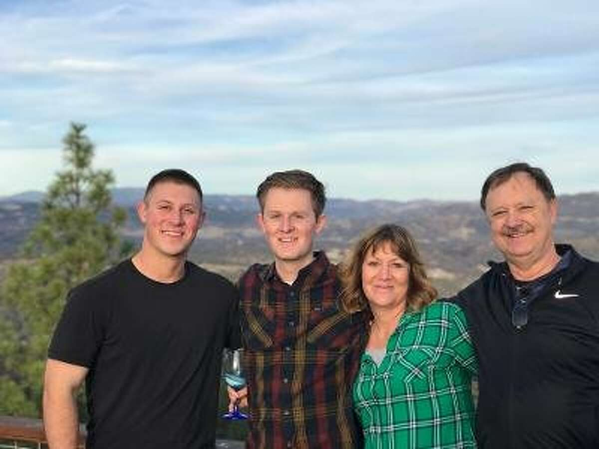 Spencer Torkelson with his�brother Matthew, mother Lori and father Rick.