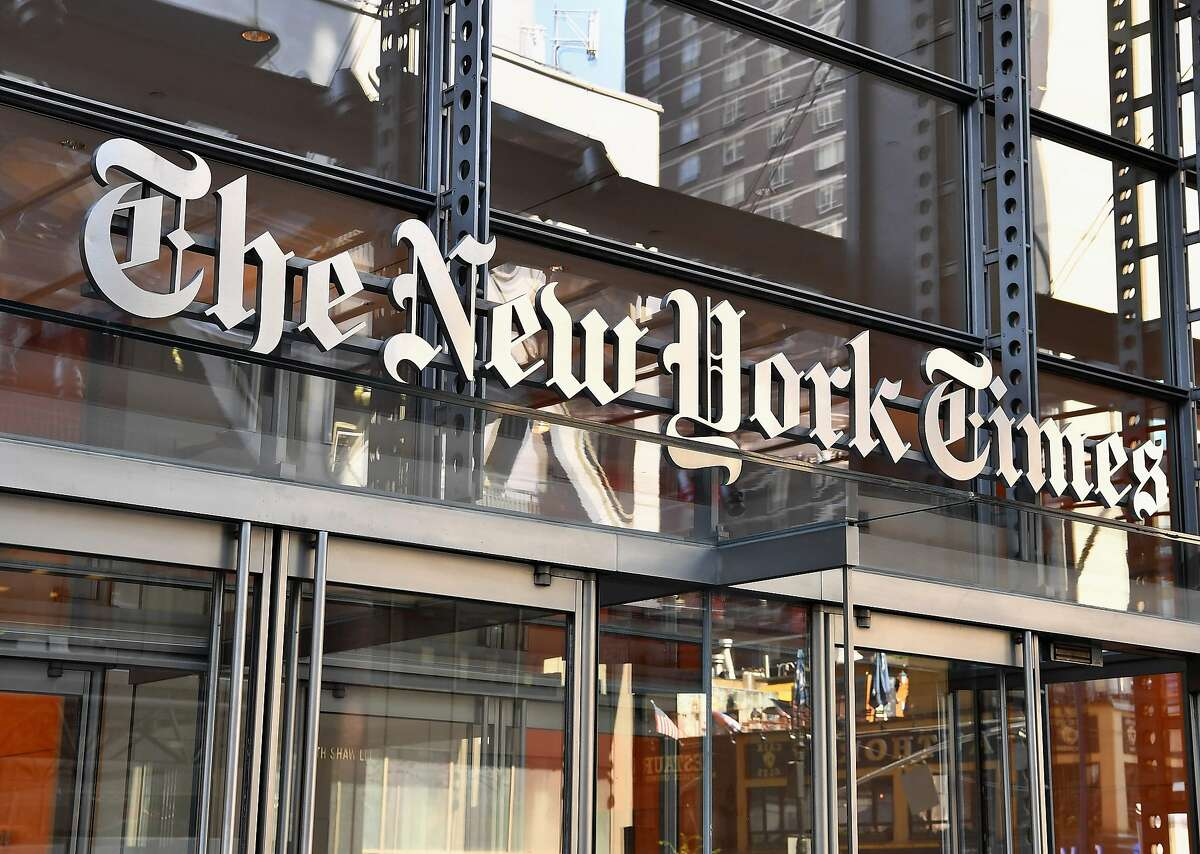 The New York Times building on September 6, 2018. The news site suddenly announced it will drop its popular Facebook community cooking group, despite a 77,000-member following.