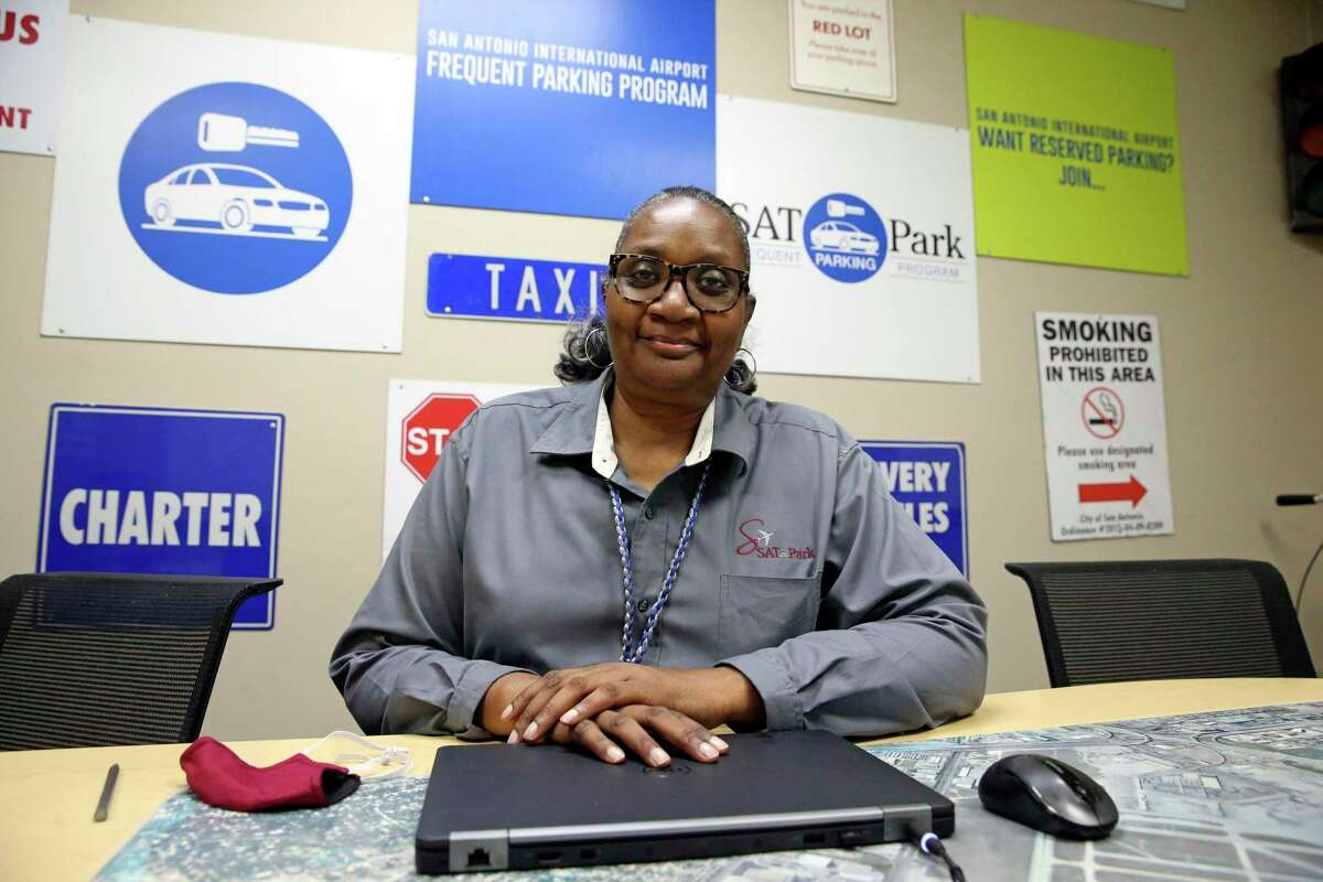 Wynetta Warren is supervisor of staff for the parking division at the San Antonio International Airport on May 20, 2020.