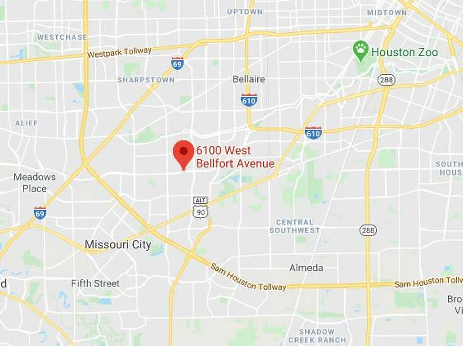 A man was found dead Sunday in a parking lot in the 6100 block of Bellfort, police said. Photo: Google Maps