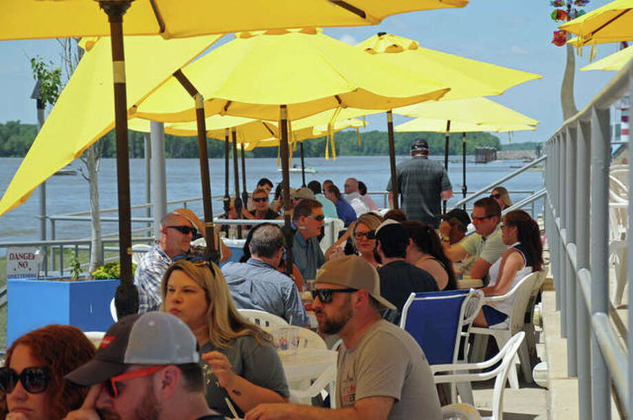 The Loading Dock in Grafton was a popular waterside gathering place on Saturday. The town had a good-sized gathering of guests over the weekend, some practicing varying degrees of social distancing and facial mask use.