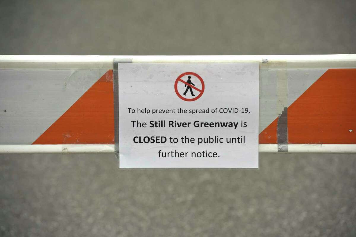 The Still River Greenway has been close to the public in Brookfield. Tuesday, March 31, 2020, in Brookfield, Conn.