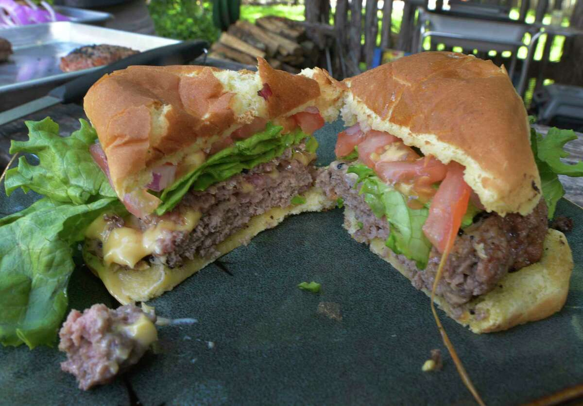 Food Shack's Lucy Cheese-Stuffed Burger