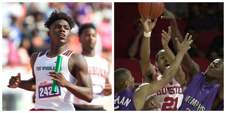 KeSean Carter, left, and Bernard Smith are in the running for the winner of The Courier's Greatest Athetes bracket. Photo: File Photos