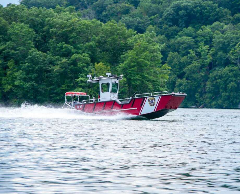 Brookfield's Marine 25 fire/rescue boat. Photo: Brookfield Volunteer Fire Department