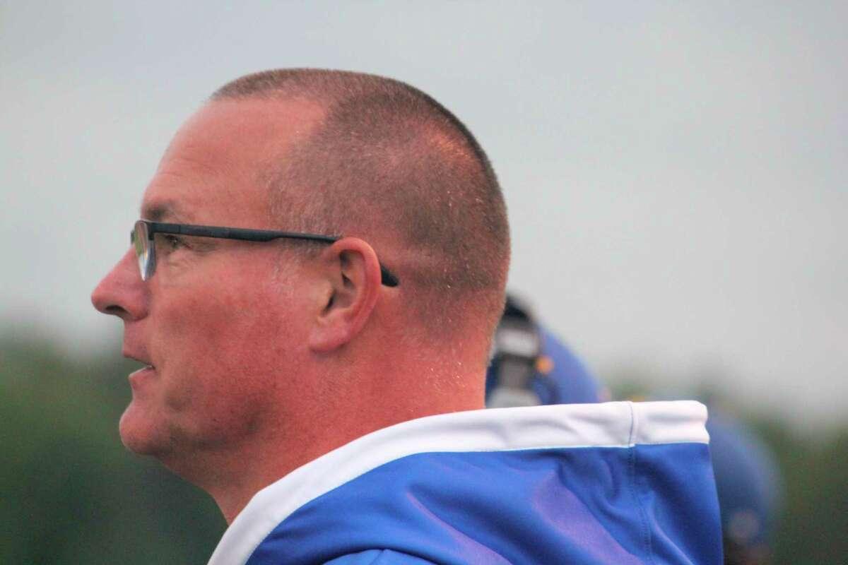 Morley Stanwood football coach Clark Huntey. (File Photo)
