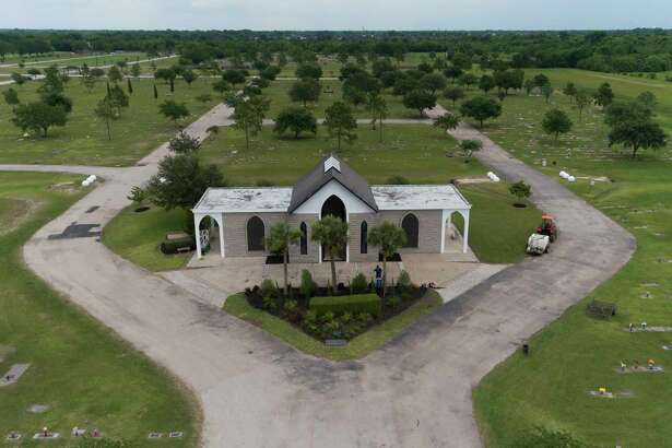 The mausoleum George Floyd's body will be taken to on Tuesday is seen at Houston Memorial Gardens, Monday, June 8, 2020, in Pearland.