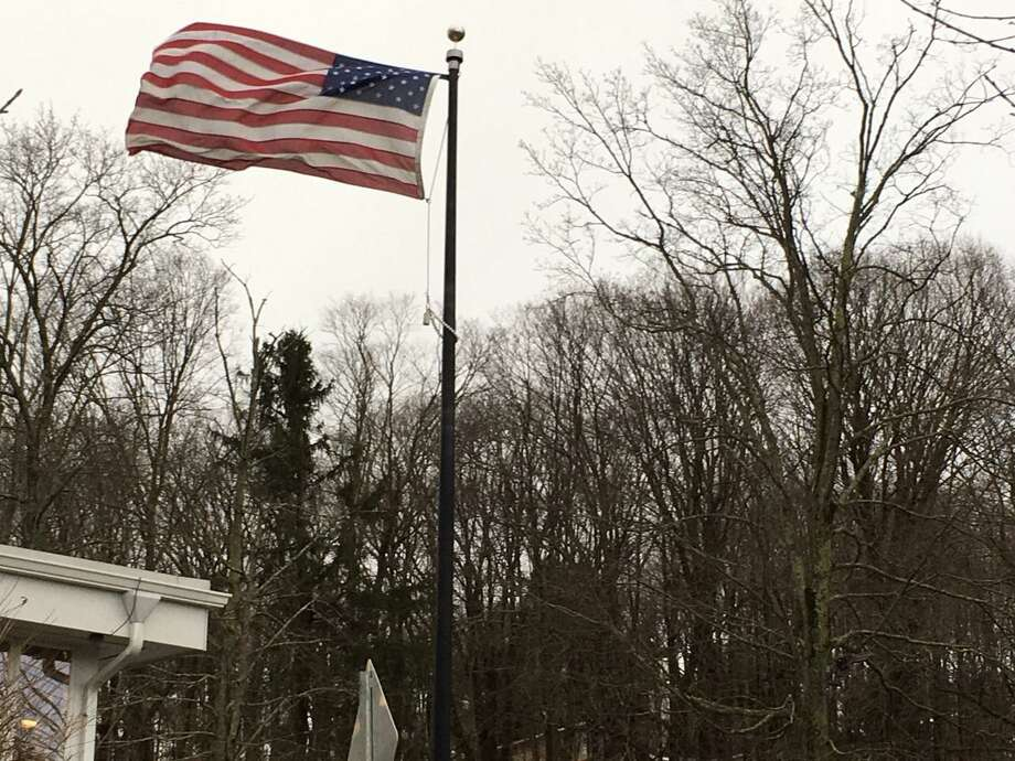 A Flag Day ceremony will take place June 14, 2 p.m., at the Veterans Memorial Green in Wilton Center. Photo: Jeannette Ross / Hearst Connecticut Media / Wilton Bulletin