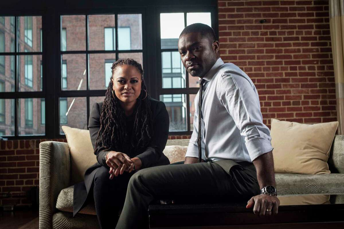 Participant Media has announced it will be working with director Ava DuVernay, shown here with David Oyelowo during a December promotional tour stop in Washington, to make her follow-up to her Oscar-nominated movie a€œSelma.a€ The movie will be a€œa sweeping love story and complex murder mystery during the time of Hurricane Katrinaa€ that may star Oyelowo, who has worked with DuVenay in a€œSelmaa€ and her earlier small-budget drama, a€œMiddle of Nowhere.a€ Illustrates DUVERNAY-COMMENT (category e), by Alyssa Rosenberg A© 2015, The Washington Post. Moved Tuesday, Jan. 27, 2015. (MUST CREDIT: Photo for The Washington Post by Andre Chung)
