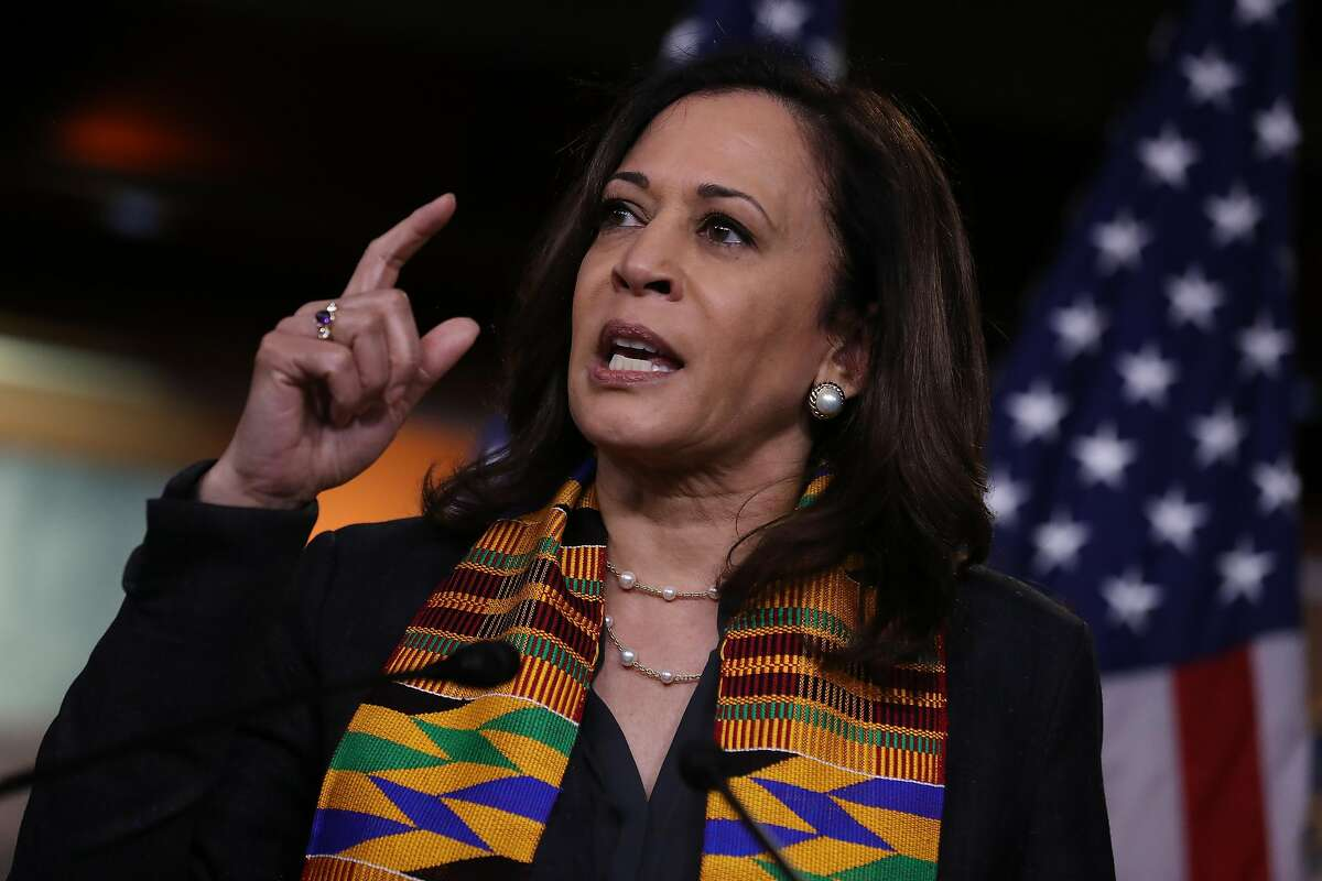 Sen. Kamala Harris, the only black woman in the Senate, is at a political pinnacle in her life of firsts.