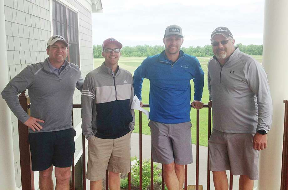 The winning foursome of the Chippewa 350 Club's annual golf outing. Pictured (from left to right) are Adam Thomas, Jim Butler, Kevin Adams and Jon Adams. (Courtesy photo)