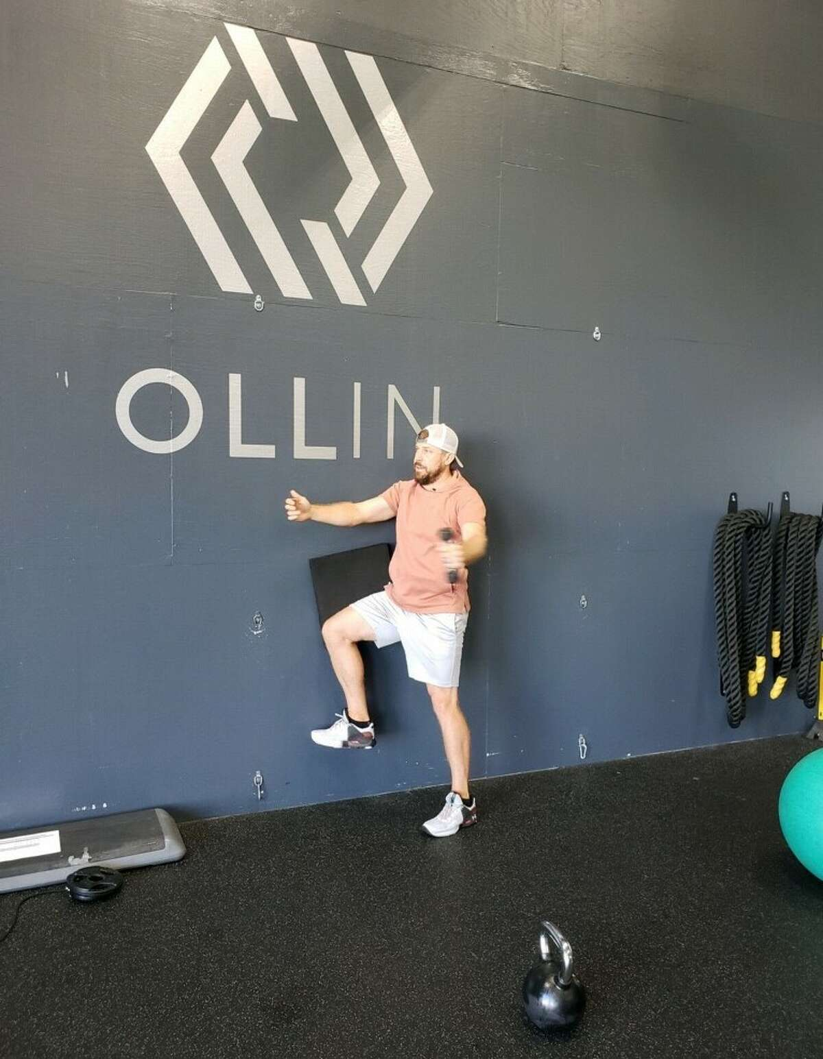 Cleveland Browns quarterback Case Keenum working out at Ollin Athletics and Sports Medicine in Cypress on June 8, 2020.
