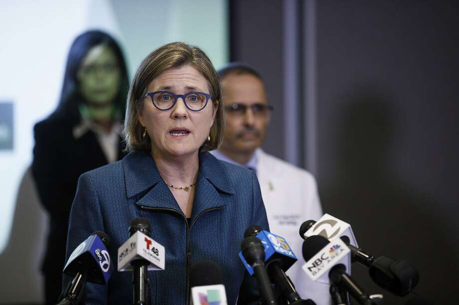 FILE - In this March 16, 2020, file photo, Dr. Sara Cody, Santa Clara County Public Health Officer, speaks during a press conference headed by public health directors spanning six Bay Area counties in San Jose, Calif. Photo: Dai Sugano / Associated Press