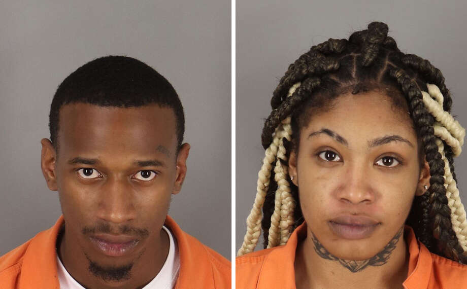 """Beaumont police officers arrested Darrell Jordan, 22, of Beaumont, and Paige Sidney, 19, of Groves, for alleged """"trafficking of a person."""" Photo: Beaumont PD"""