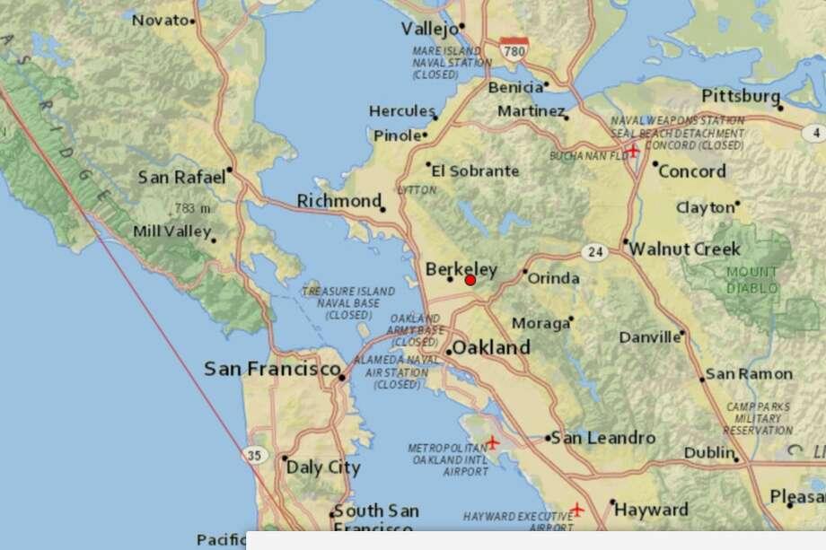 A small magnitude-2.7 earthquake struck Berkeley, Calif., Tuesday morning. Photo: USGS