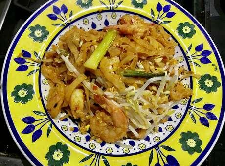 Pad Thai with shrimp at Asia Market Thai Lao Food