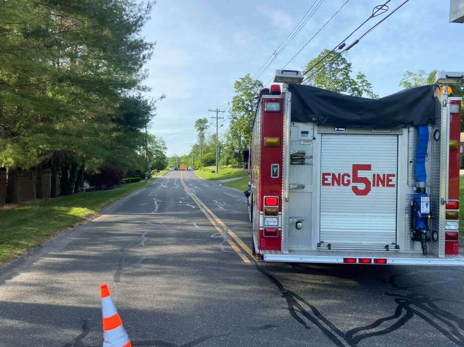 Candlewood Lake Road was closed between North Mountain and Old Prange roads Monday, June 8, 2020, following an accident involving a vehicle and two motorcycles. Photo: Brookfield Volunteer Fire Department