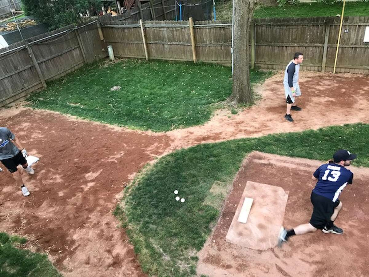 A view from the second-story deck overlooking Ilyadis Field, home of Colonie Wiffleball.