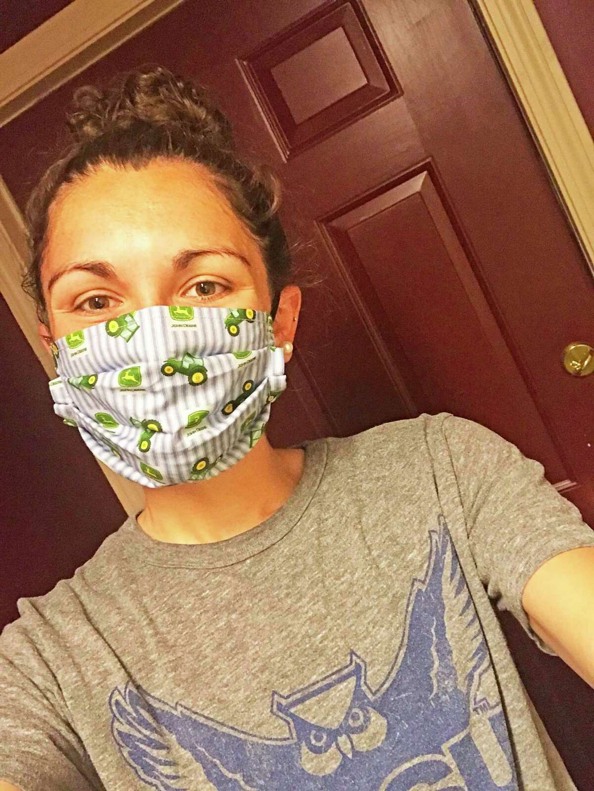 Since the COVID-10 health crisis began, Nutmeg Big Brothers Big Sisters mentor Madison (Maddy) Feshler of Middletown has been making protective cloth masks for family and friends. Lately, she's also been selling them to raise money for the agency's virtual Walk/Run/Ride For Kids' Sake and Alzheimer Association's Walk To End Alzheimer's.