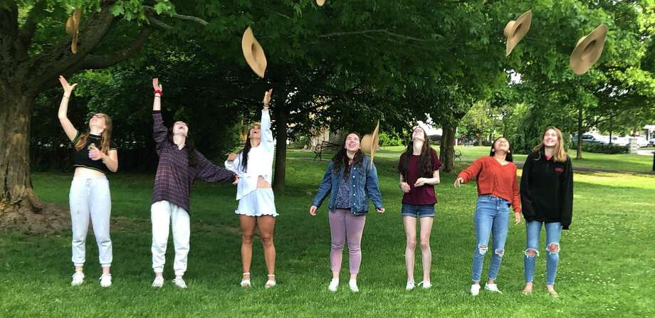 Ridgefield area chapter of NCL class of 2020: Lily Warren, Ella Isley, Bella Carozza, Jenna Walls, Emily Sganga, Laura Anandappa and Carolyn Donovan. Photo: Contributed Photo