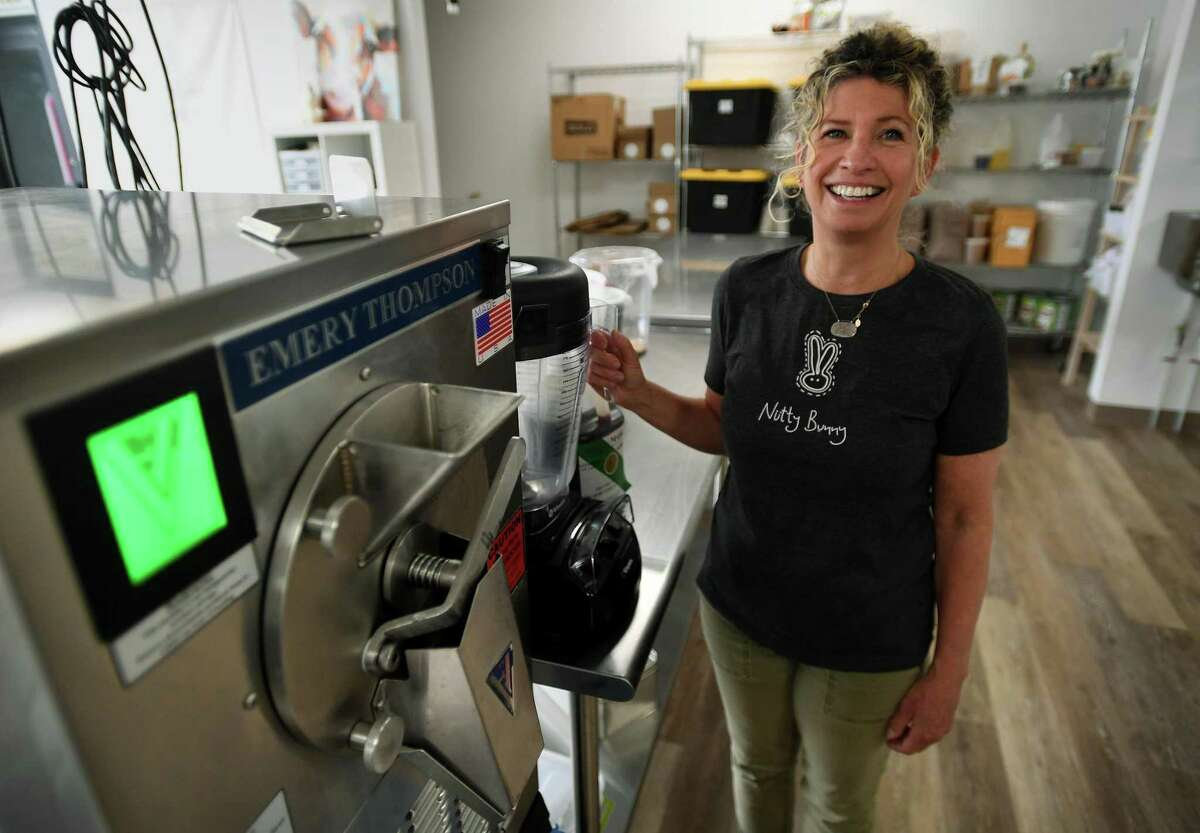 Pamela Aflalo, of Westport, is ramping up production of Nutty Bunny, her organic plant-based ice cream, at her company's new facility at 21 Isaacs Street in Norwalk, Conn. on Wednesday, May 27, 2020.