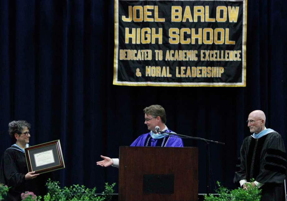 The 2015 Joel Barlow High School commencement ceremony at the William A. O'Neill Center, Western Connecticut State University in Danbury, Conn. on Wednesday, June 17, 2015. Photo: Matthew Brown / For Hearst Connecticut Media / Connecticut Post Freelance
