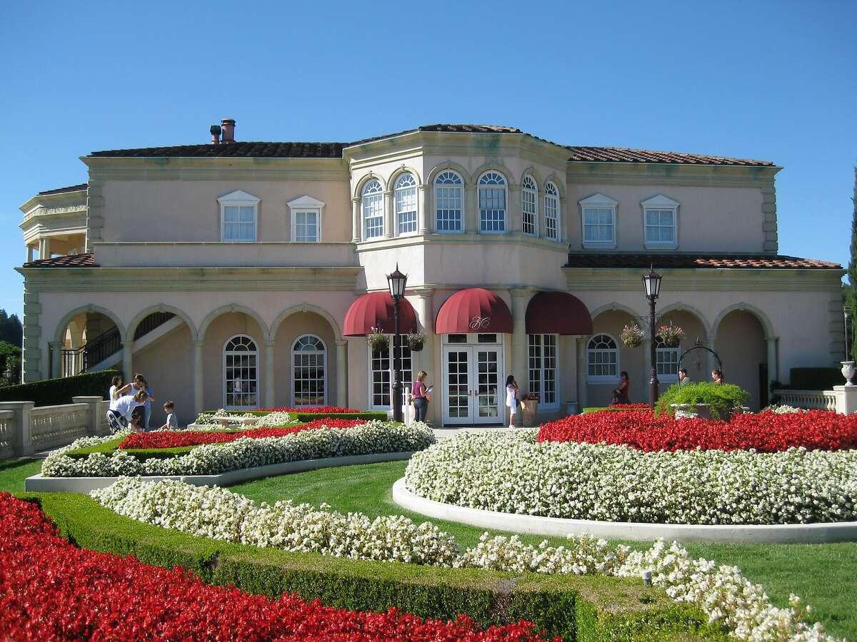 Gardens surround Villa Fiore, at Ferrari-Carano Winery in California's Dry Creek Valley.