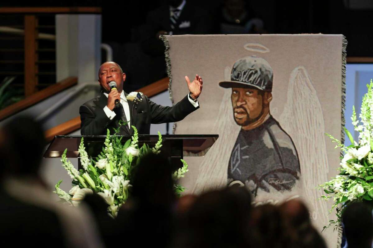 Houston Mayor Sylvester Turner speaks during the funeral for George Floyd on Tuesday, June 9, 2020, at The Fountain of Praise church in Houston. Floyd died after being restrained by Minneapolis Police officers on May 25. Turner named his Task Force on Policing Reform on June 24.