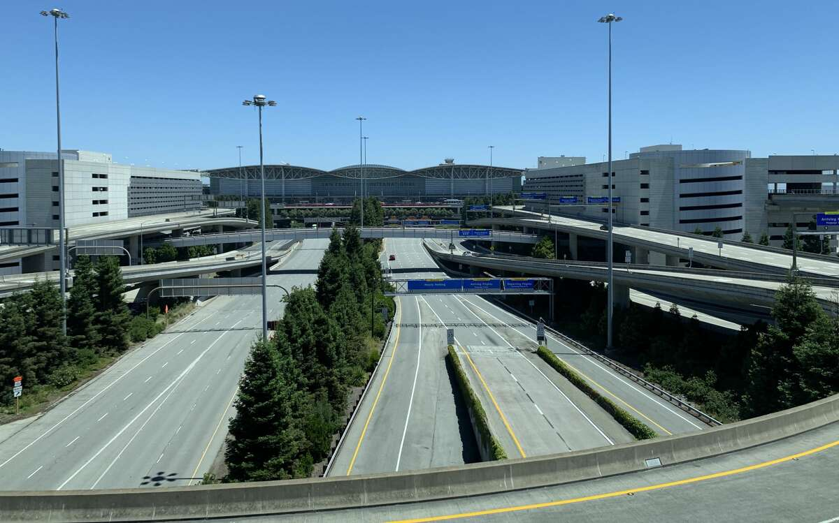 The decline in air travel (currently down 80-90 percent year-over-year) has alleviated traffic congestion that plagued terminal roadways and curbsides at San Francisco International Airport in recent years. The problems became so bad that the airport had to move ride-sharing pickups to a dedicated spaces in the airport's central parking lot last June, which is now a virtual ghost town, as you'll see in the photo below.  Despite the lack of crowding, the rideshare lot is still in operation for pickups.