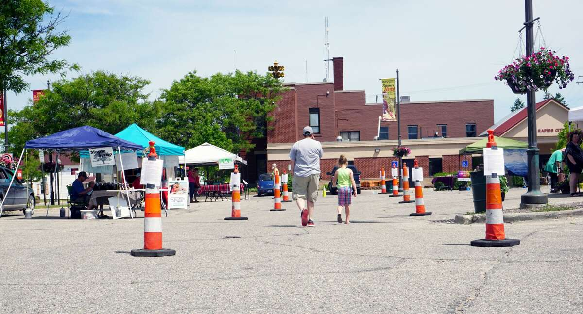 With restrictions on outdoor gathering virtually expired, the Big Rapids Farmer's Market opened for the first time in 2020 on Tuesday afternoon.