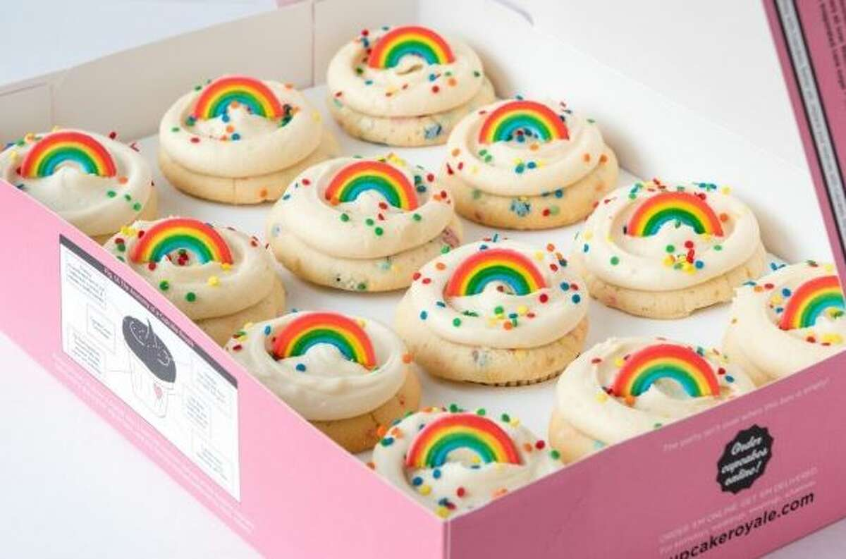 'The Gay' cupcake from Cupcake Royale.