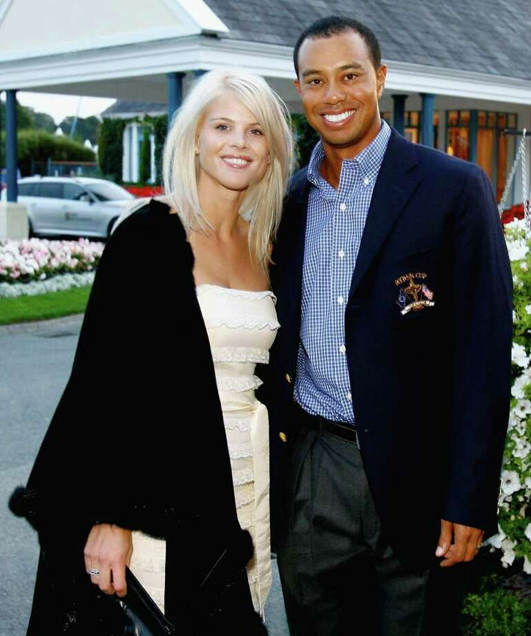 Tiger Woods poses with his wife Elin Nordegren at The Welcome Dinner after the first official practice day of the 2006 Ryder Cup at The K Club on September 19, 2006 in Straffan, Co. Kildare, Ireland. (Photo by David Cannon/Getty Images) Photo: David Cannon