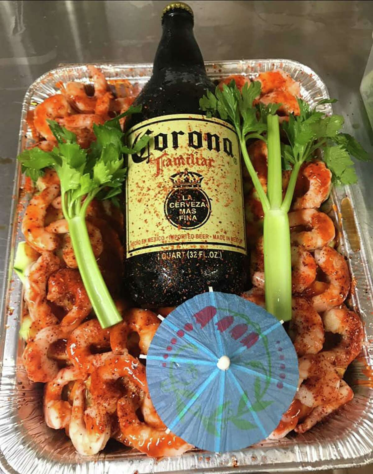 """A """"Don Caguamon,"""" basically a charolazo platter for one or for two, from Express Super G's convenience store in San Antonio."""