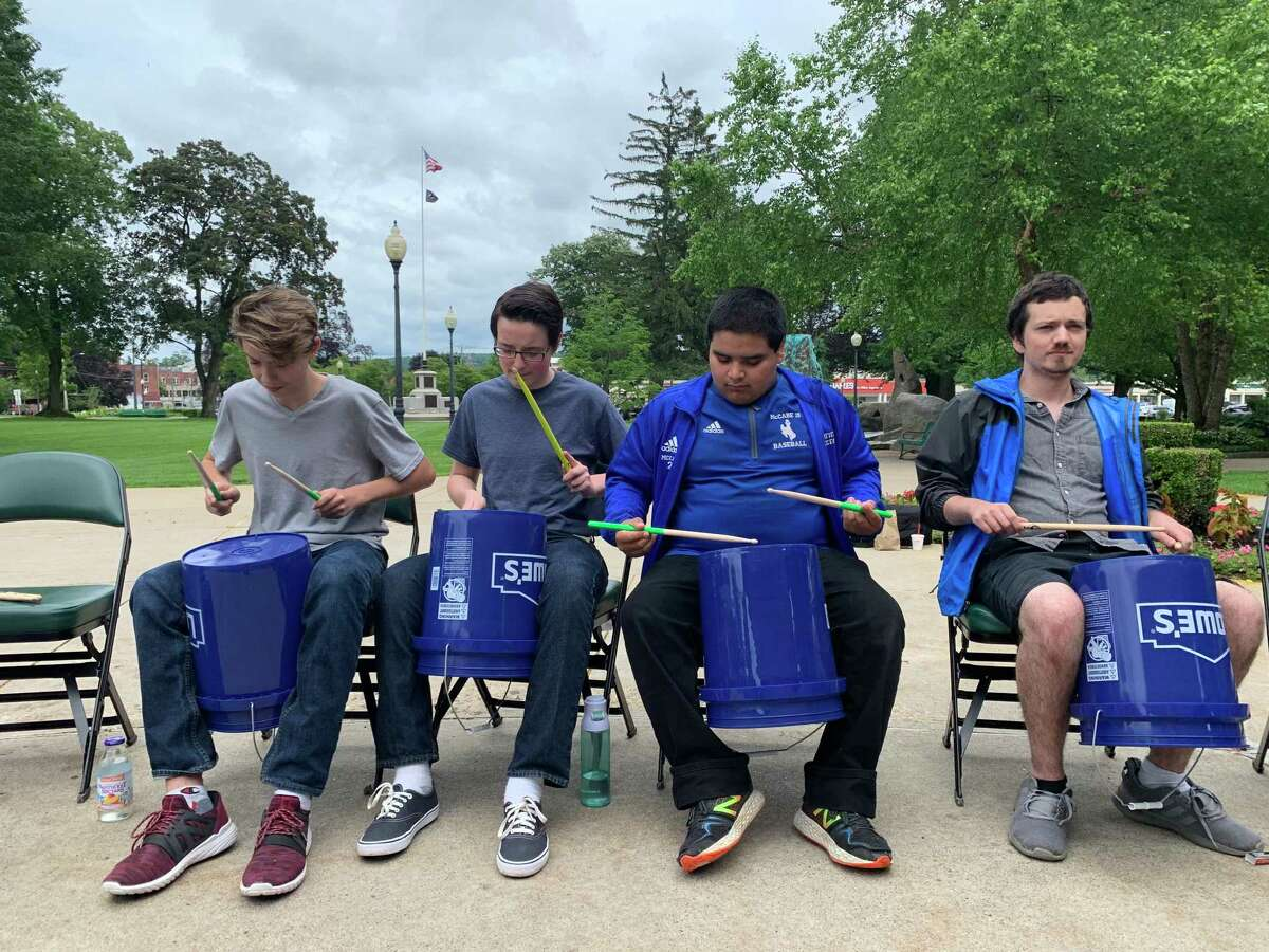 Northwest Connecticut Arts Council's annual Make Music Day returns June 21, featuring musicians performing in and around Torrington. Above, a group play bucket drums.
