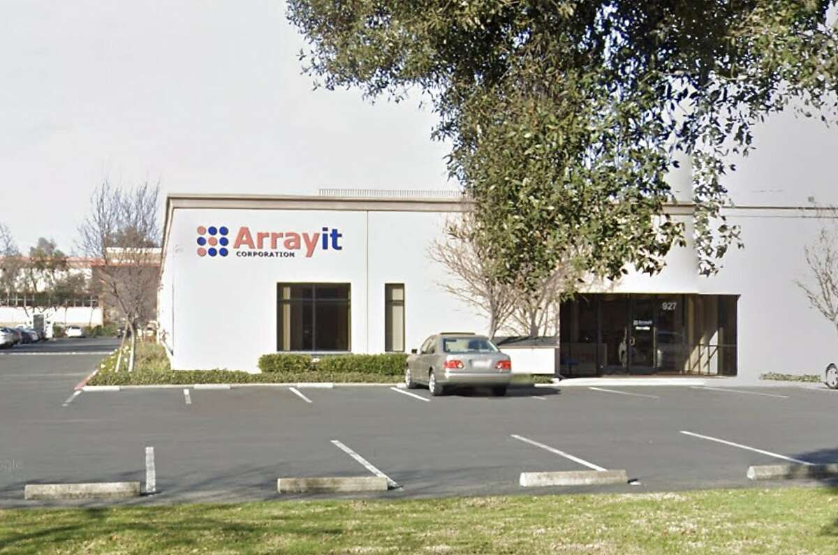 The headquarters of Arrayit Corporation in Sunnyvale, Calif., in January 2020, from a Google Street View capture.