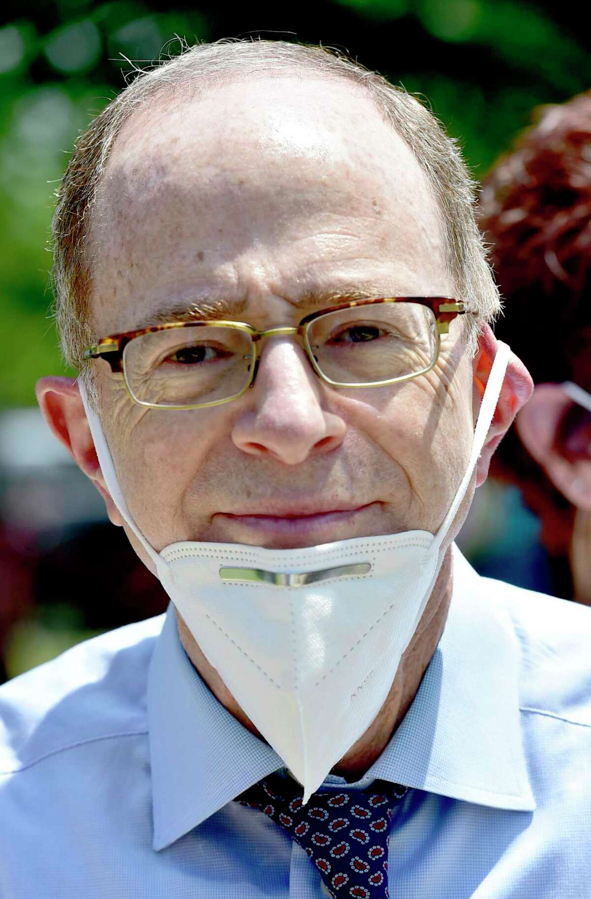 Mark Arons, attorney for the family of Mubarak Soulemane, at a rally June 6.