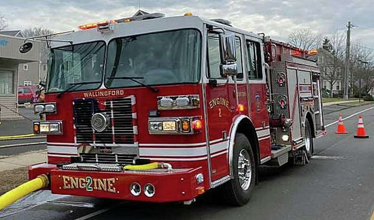 A file photo of a Wallingford, Conn., fire engine.