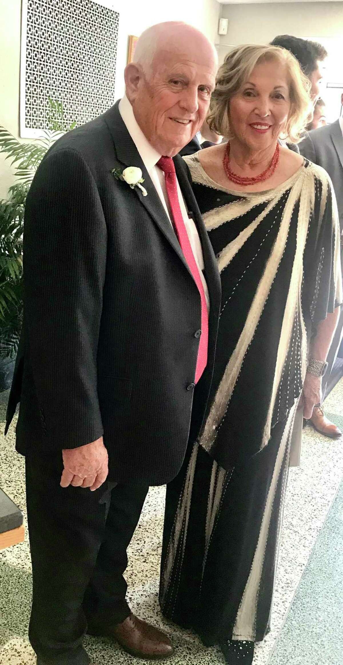 The late former East Haven Mayor Hank Luzzi, left, and his wife, Claire.