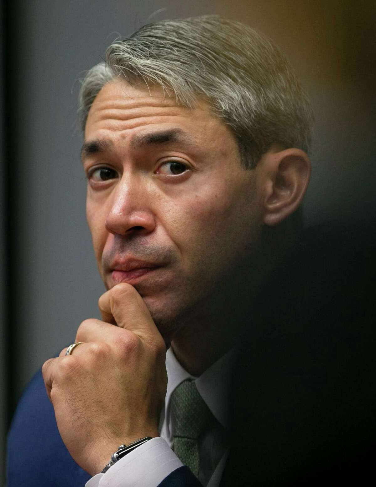 """Mayor Ron Nirenberg """"We've got to ensure that our calculus for creating a healthy and safe community are more than just what we spend on public safety."""" """"In a sense from a program and infrastructure and services standpoint, things like libraries and parks and safe streets and child nutrition programs, those things are being tightened up every single day as our budgets grow, and so if we're going to do that, we end up in a situation where we're producing the results that we have to police, and there's something wrong with that. We have to start with building safe and healthy communities in every part of our community and that is way more than just policing it."""""""