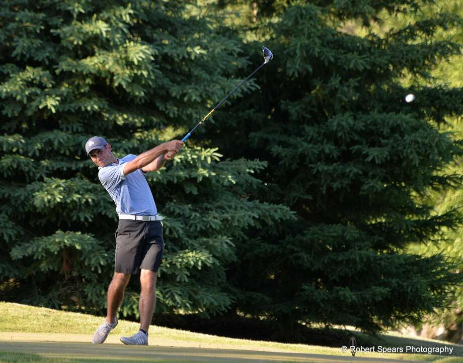 Austin Deiters, a 24-year-old senior on Northwood's men's golf team and a 2014 graduate of Dow High, plays six rounds of golf, or 108 holes total, at the Midland Country Club Monday, June 8, 2020 to raise awareness of and money for flood relief efforts locally. (Photo provided/Robert Spears) Photo: (Photo Provided/Robert Spears) / Robert Spears